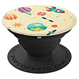 Space Planets Shuttles Crafts & Station Earth Stars Universe - PopSockets Grip and Stand for Phones and Tablets