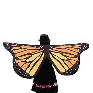Regalo para Amigos, egmy 1pc mujeres suave tela Chal de alas de mariposa de hada–disfraz de ninfa Pixie accesorio