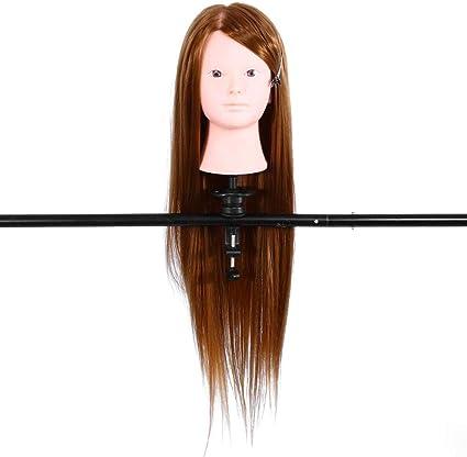 Cabeza de maniquí Entrenamiento del cabello humano Peinado ...