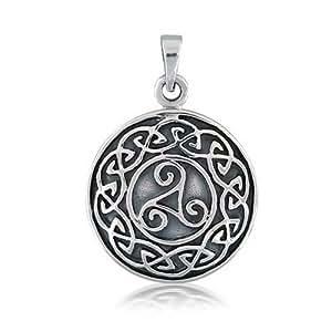 Bling Jewelry Nudo Celta Plata Esterlina Colgante medallón