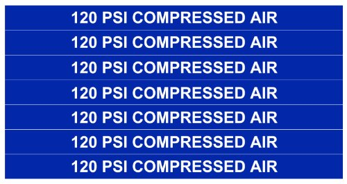 120 PSI COMPRESSED AIR ____Gas Pipe Tubing Labels__ <PACKAGE OF 14 LABELS> 3/8