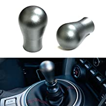 iJDMTOY Gun Metal Matte Finish Universal Fit Gear Shift Knob, Good For Most Car 4-Speed, 5-Speed, 6-Speed or Automatic