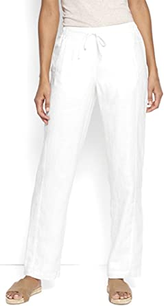 Amazon Com Orvis Shoreline Pantalones De Lino Para Mujer Straight Xl Clothing