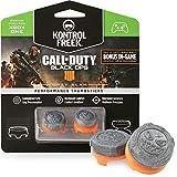 KontrolFreek Call of Duty: Black Ops 4 Grav Slam for Xbox One Controller   Performance Thumbsticks   1 High-Rise Convex, 1 Mid-Rise Convex   Gray/Orange