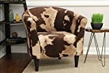 Mainstays Marlee Animal Printed Bucket Accent Chair (Cowhide Brown)