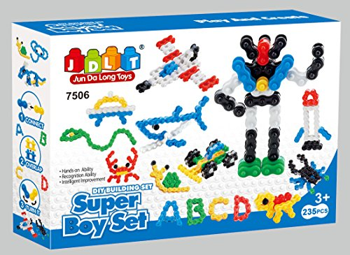 Super Toy Creativity Chain Links play set - Building block mega 235Pcs toy set for kid's unique playtime by Little Treasures