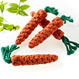 Solovey 4 Pieces Pet Dog Puppy Cat Chewing Rope Molar Cotton Knot Clean Teeth Healthy Teeth Chew Fun Toy for Pet Favors