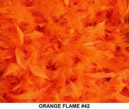 Cozy Glamour Solid Boas 6 Foot Long 50 Gram in a Variety of Shades Great for Parties, Crafts, and Fun! (Orange Flame #42)