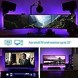 under cabinet hdtv - Derlson Bias Lighting for HDTV USB LED Strip Lights/Backlight Kit for Home Theater,Under Cabinet, Monitor, Furnitures (Multi-Color RGB, Remote Control) Festival Promotion