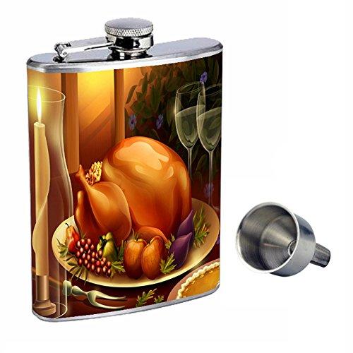 憧れ 感謝祭Perfection inスタイル8オンスステンレススチールWhiskey Free Flask with Free d-006 Funnel d-006 Funnel B0181MM0C4, Beau Vie(ボウヴィ):e1a66f7b --- oil.xienttechnologies.net