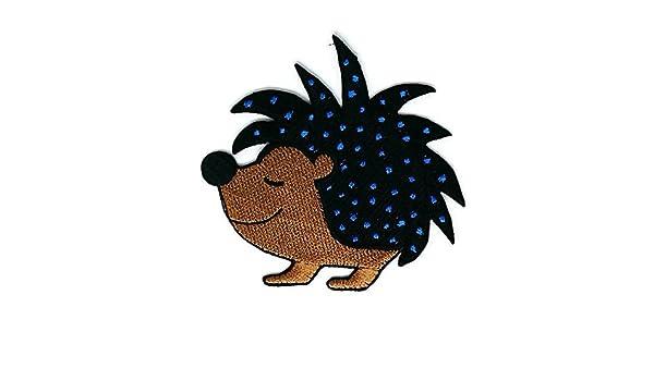 Smiley - Parche para coser o planchar, hecho a mano, diseño de dibujos animales, color marrón: Amazon.es: Hogar