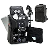 Photo : Digital SLR Camera Backpack with Padded Custom Dividers , Tripod Holder , Laptop Compartment , Rain Cover and Accessory Storage by USA Gear for DSLR Cameras for Nikon , Canon , Sony , Pentax and More