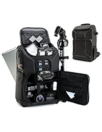 Professional Camera Backpack DSLR Photo Bag with Comfort Strap Design, Laptop, Tripod Holder, Lens and Accessory Storage for Canon EOS Rebel T5, T5i, T6i and More Full-Sized Digital SLR Cameras