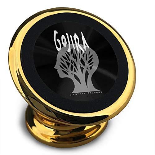 Piuhgggzs Gojira L'Enfant Sauvage Godzilla Metal Band Logo Universal 360° Rotation from Dashboard Compatible Magnetic Car Phone Mount Holder for iPhone and IPad.