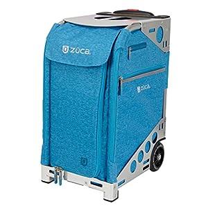 ZUCA Pro Heather Suitcase with Built in Seat: Aqua Blue, Hunter Green, Plum Purple, or Slate Gray Insert Bag