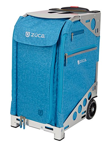 Zuca Pro Heather Suitcase with Built In Seat: Aqua Blue, Hunter Green, Plum Purple, or Slate Gray Insert Bag