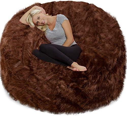 Chill Sack Chair: Giant 6' Memory Foam Furniture Bean Bag Big Sofa