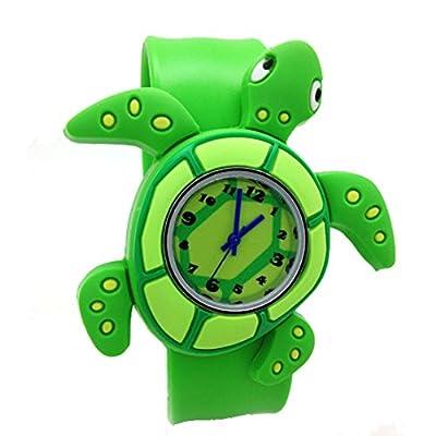 Cartoon Sea Turtle Unisex Kids Watch Water-resistant Sports Watch Bendable Rubber Strap Wrist Watch from SEMIR