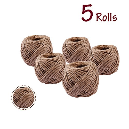 Conjugal Bliss 5PCS Colored Twisted Cotton Hemp Rope Full Spools 2362inchs Mini 6 Colors Strand Rope For Home Gift Decor Birthday Carnival Kids Party Supplies Decoration (Hemp (Twisted Disney Princesses Halloween)