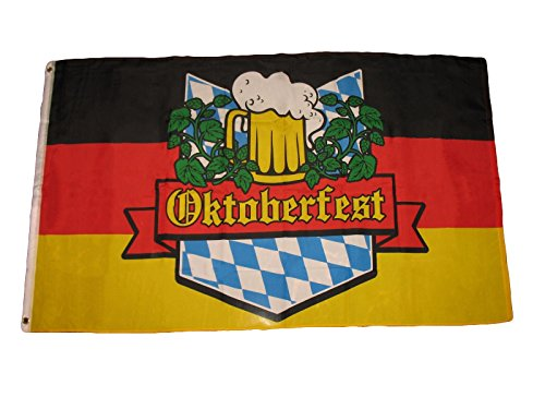 ALBATROS 3 ft x 5 ft German Bavarian Oktoberfest Octoberfest Beer Festival Flag Banner 100D for Home and Parades, Official Party, All Weather Indoors Outdoors