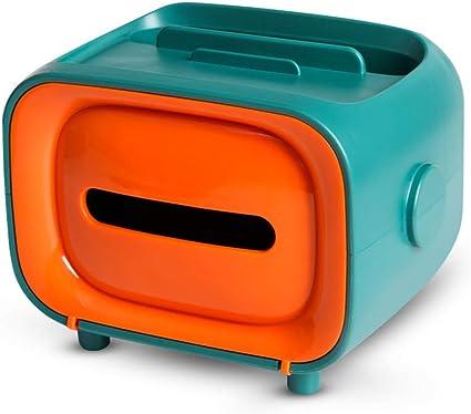 Portafazzoletti a forma di TV Portafazzoletti multifunzionale Portavaglioli creativo per cassetto TV con porta cellulare Decorazione per auto Ufficio casa