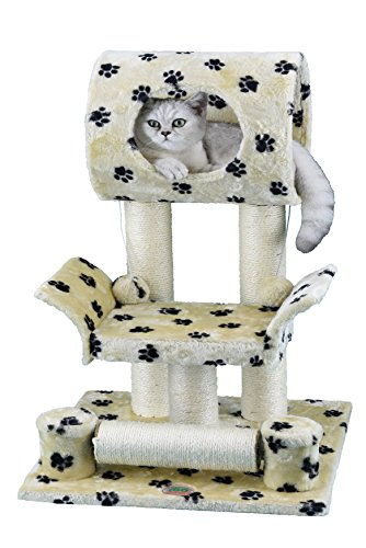 (Go Pet Club Cat Tree Condo House Furniture, 28-Inch, Paw Print)