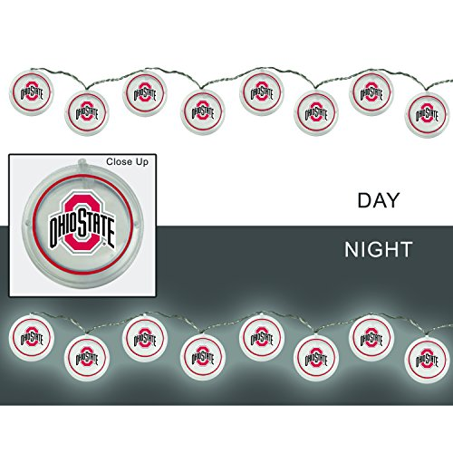 (Team Sports America Ohio State University Outdoor Safe Battery Powered String Light Set)