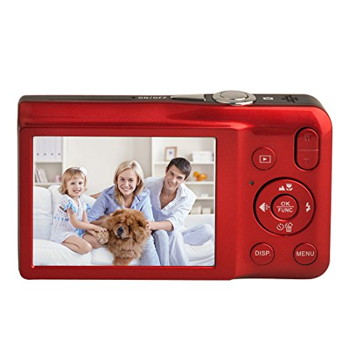 KINGEAR V100 2.7 Inch TFT Color LCD Screen 15MP 720P HD Anti-shake Smile Capture Digital Video Camera With 5X Optical Zoom 4X Digital Zoom-Red