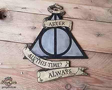 Cartel Harry Potter ALWAYS, pintado y envejecido a mano. Con ...