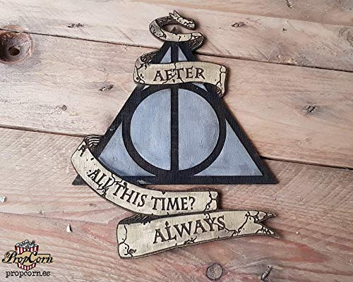 Cartel Harry Potter ALWAYS, pintado y envejecido a mano. Con ...