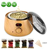 Wax Warmer Hair Removal Waxing Kit with 5 flavors Hard Wax Beans and for Rapid Waxing of All Body, Face, Bikini Area, Legs Applicator Stickers for Everyone or Professional Beauty Salon (PORTABLE) Review