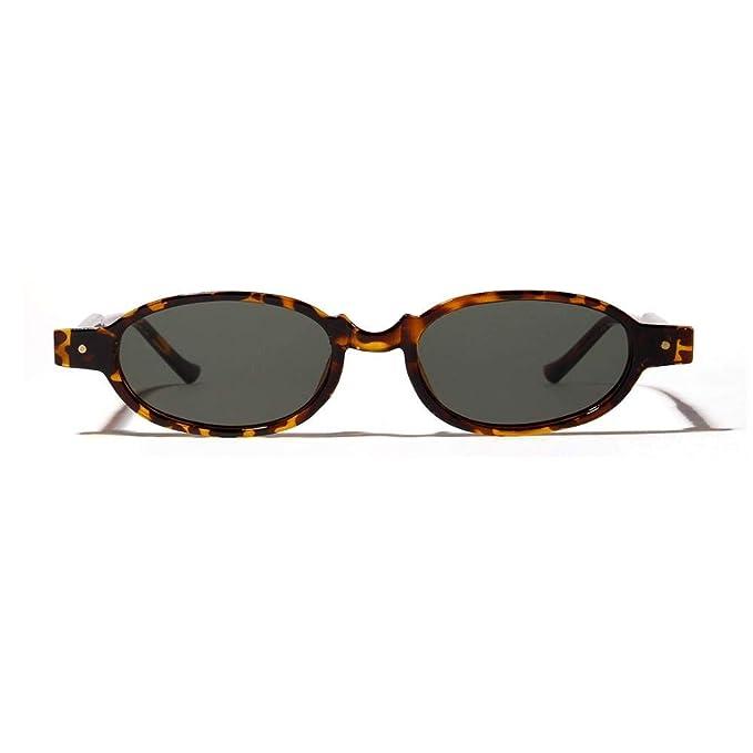 XMDNYE Pequeñas Gafas De Sol Ovaladas Remache Punky Redondo ...