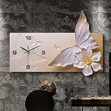 Large wall clock Living rooms Silent Modern Art clock Decorative Wall clock Quartz Clock-Orange 60x40cm(24x16inch) For Sale