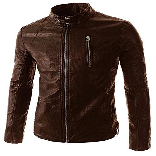 2xl hombres Fashion brown Chaquetas de Small PJK para dark cuero 7nI1Wnzq