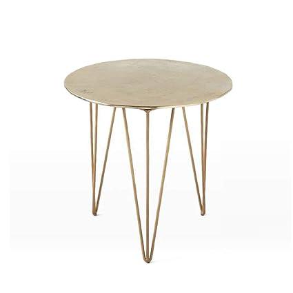 Wrought Iron Round Table.Amazon Com Wynzybz Round Wrought Iron Side Table Sofa Mini Coffee