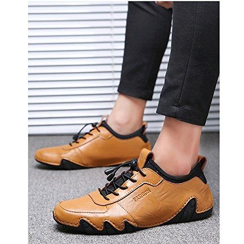 De De Derby Los Ocasionales Zapatos Zapatos De De De Hombres Amarillo Zapatos Conducción Moda Cuero awxY7qg