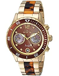 Women's Angel Quartz Watch with Stainless-Steel Strap, Two Tone, 20 (Model: 24706)