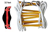 Emergency Fire Escape Rope ladder 3 Story 4 story Homes 32 Feet Flame