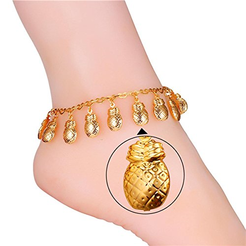 Fashion Foot Jewelry Pineapple Charm Link Chain Bracelet Anklet