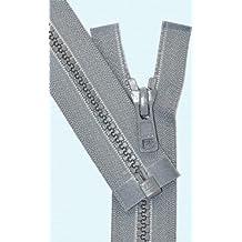 "25\"" Vislon Zipper ~ YKK #5 Molded Plastic Sport Zipper ~ Separating - 578 Medium Grey (1 Zipper/ Pack)"