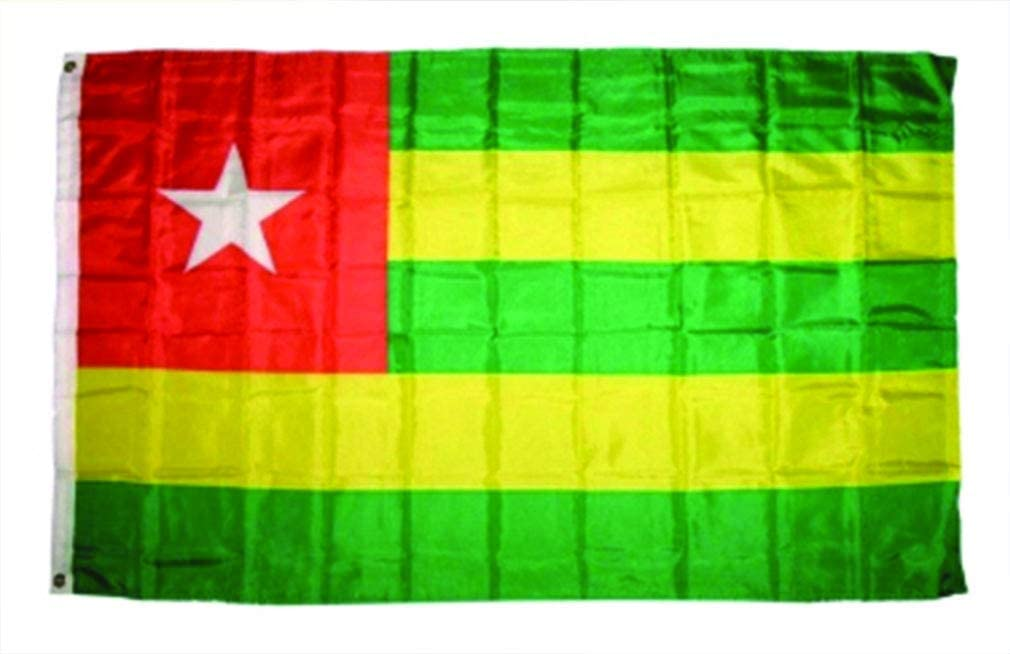 AccessCube Home Decoration 100% Polyester National Printed Large Country Flag Banner Scarf Wrap (3x5 Flag, Togo)