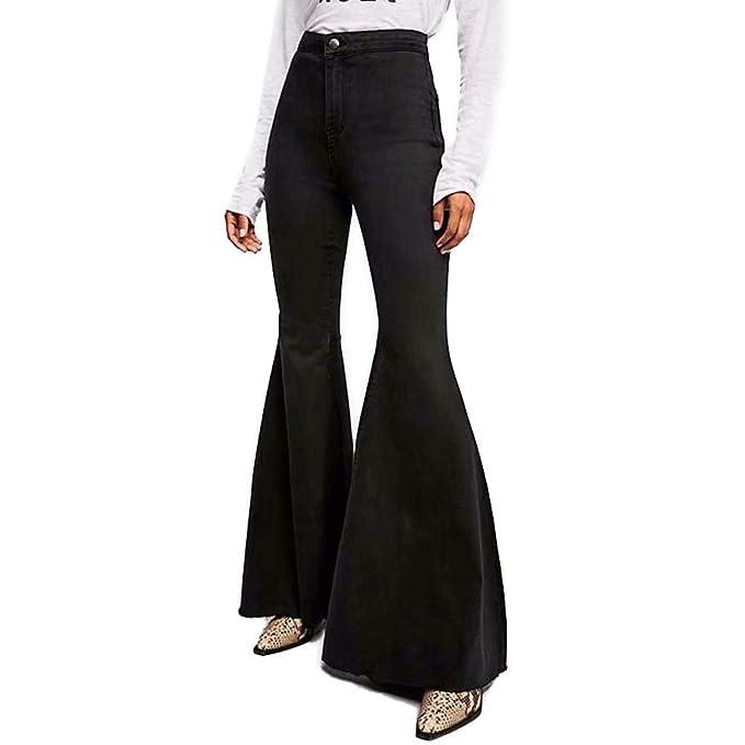 Amazon.com: LALA IKAI - Pantalones vaqueros para mujer de ...