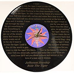 JEFFERSON STARSHIP LASER ETCHED VINYL LP RECORD WALL CLOCK FREE SHIPPING