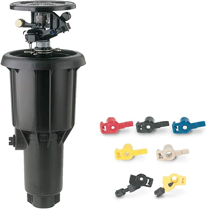 Rain Bird Maxi-Paw 2045ANP Non-Potable Impact Rotor Sprinkler Includes 7 Different Nozzles for Each Head 4 Pack in a Sack by IrriFix