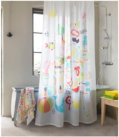 Ikea Badbäck Rideau De Douche Multicolore Amazon Fr