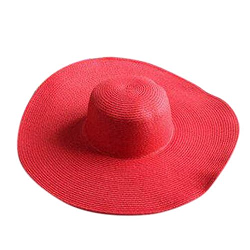 Sun Hat of Ladies Spring and Summer Tide Straw Hat Beachwear Hat Holiday Eaves for Women
