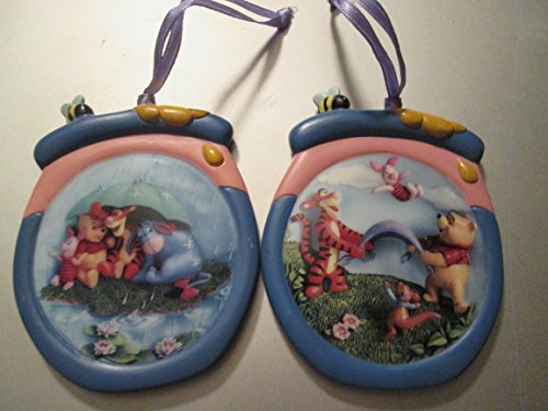 (Bradford Editions Winnie the Pooh Christmas Plate Ornaments It's Just a Small Piece of Weather Ad Hip Hip Poohray)