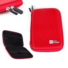 Coque étui rouge rigide pour Acer Iconia Talk S (A1-724) - tablettes tactiles 7 pouces - résistant à l'eau - DURAGADGET
