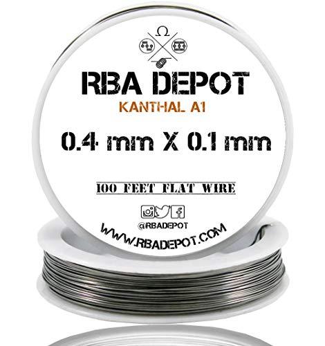 [RBA DEPOT] 100ft - 0.4 mm X 0.1 mm Kanthal Flat Ribbon Wire KA1 FeCrAl Alloy Resistance Wire