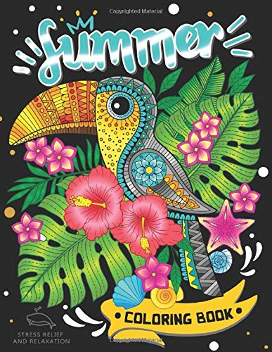 Summer Coloring Book: An Adult Coloring Book Relaxing Beach Scenes, Ocean Landscapes and Flowers Designs [Idioma Inglés] por Rocket Publishing